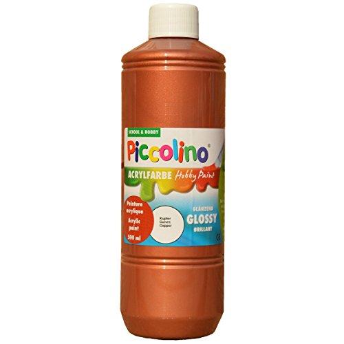 Glänzende Acrylfarbe Piccolino Hobby Paint, Kupfer 500ml Flasche