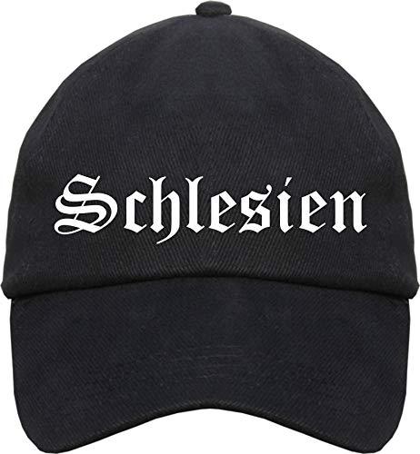sostex Schlesien Cappy - Altdeutsch Bedruckt - Schirmmütze Cap Einheitsgröße Schwarz