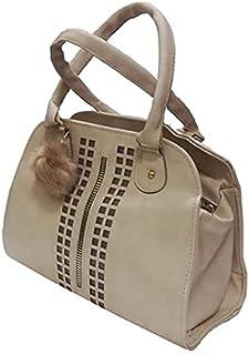 حقيبة للنساء-بيج داكن - حقائب يد كبيرة بحمالة