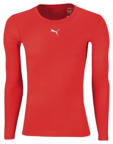 Puma PB Core T-Shirt manches longues homme Rouge FR : 56/58 (Taille Fabricant : XL)