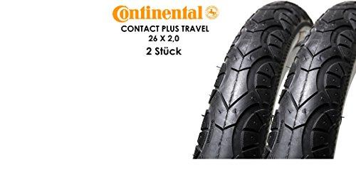 günstig 2 Continental Contact Plus Travel 26-Zoll-Fahrradreifen 50-5592 6 × 2,0 reflektierende Decke… Vergleich im Deutschland