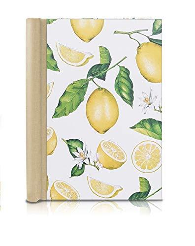 Klemmbinder Zitrone Naturleinen, A5