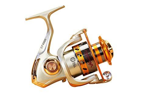 Carrete de pesca de metal para ruedas distantes, 5,5:1 12 rodamientos de bolas de pesca, rotación de la bobina de pesca