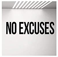 No Excuses Self Motivation Quote Gym Vinyl Wall Decal Workout Fitness Wall Sticker Sport Home Gym Interior Decoration 106 * 28Cm