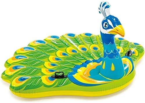 NLRHH Plegable Piscina, Agua colchón Inflable, flotando línea de Modelos de Pavo Real, Pavo Real Adultos inflables Juguetes for la Piscina, Adulto Cama Flotante Juguetes del Partido Peng