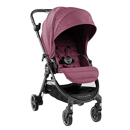 Baby Jogger City Tour LUX Stroller | Compact Travel Stroller | Lightweight Baby Stroller with Backpack-Style Carry Bag, Perfect for Travel, Rosewood