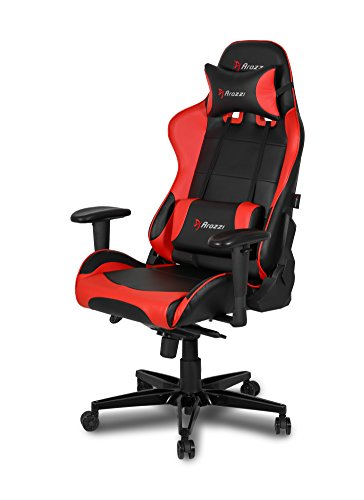 Arozzi Verona XL+ Extra-Wide Premium Racing Style Gaming Chair with High Backrest, Recliner, Swivel, Tilt, Rocker and Seat Height Adjustment, Lumbar and Headrest Pillows Included -...