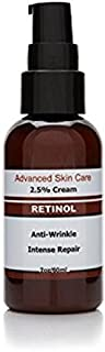 Sponsored Ad - Retinol Cream Moisturizer for Face 2.5% Retinol, Hyaluronic Acid, Resveratrol, Shea Butter Green Tea and Vi...
