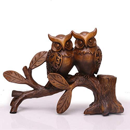 RSRZRCJ Figuritas Decorativas Sala De Estar Gabinete De Vino Estantería Decoración Adornos Hogar Lindo Búho Pequeños Adornos