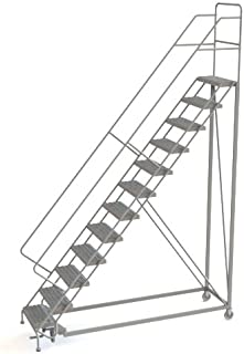 Tri-Arc UKDEC112242 U-Design Configurable 12-Step Forward Descent Incline Rolling Ladder with 24