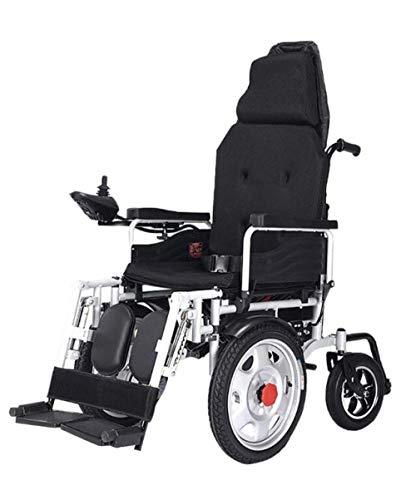 WENZHEN Silla de Ruedas electrica,Ancianos Plegables Coche de Ayuda para discapacitados Ancianos Inteligente Compacto Automático Portátil Ligero Scooter