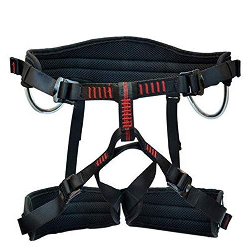 ZWWZ Sicherheitsgurt, Absturzsicherung Half Body Kletterausrüstung justierbare Taille Protection Design CE-Zertifizierung Hochfeste Polyester for Bergsteigen Outdoor-Klettern HAIKE
