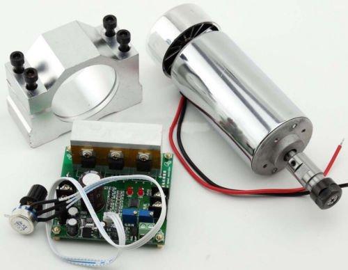 Motor de husillo mini Spindle de 400 W CC refrigerado por aire, 0.4 kW ER11 + controlador de velocidad Mach 3 PWM y montura 3.175 mm Air Cooled Spindle Motor para grabado CNC