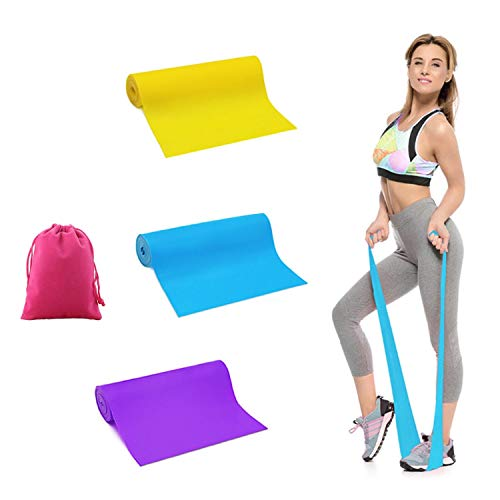 BSOMAM Resistance Bands, 3 Pack Latex Yoga Elastic Bands Workout Bands Wide Booty Bands Sports Fitness Bands Stretch Resistance Loops Band for Physical Therapy,Gym,Yoga,Pilates (2020 Upgraded)