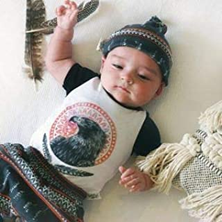 Dusty Road Apparel Organic Baby Hats   Tribal Knot hat   0-5 Months White