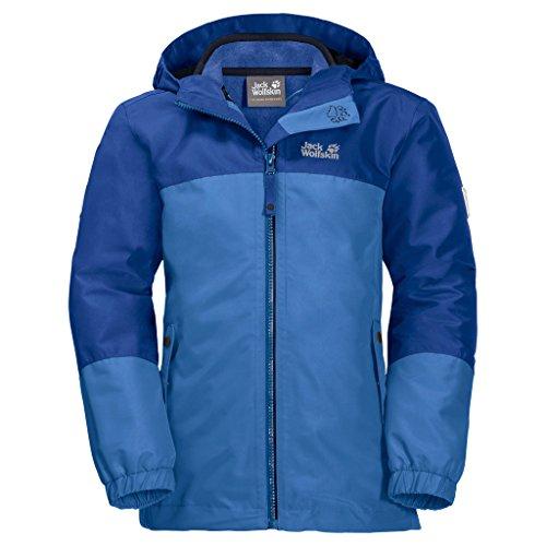 Jack Wolfskin Kinder G Iceland 3IN1 JKT 3-in-1-Jacke für Mädchen Wasserdicht Winddicht Atmungsaktiv 3in1-jacke, Zircon blau, 176