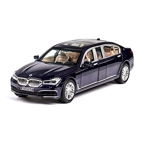 Modelo de Outdoorking Coche 1:24 para BMW para 760Li Modelo de automóvil Modelo de aleación Die Moe Toy Modelo Modelo de auto Tirar de sonido Luz de sonido Luz de juguete para niños Collectibles para