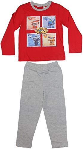 Super wings pyjama long boys - Rouge, 5 ans