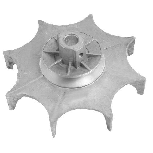 Aexit 12mm bohrung Durchmesser Aluminiumlegierung Gebläse Rad Silber Ton (21c05105aee31b01acc328e6c09cd85d)