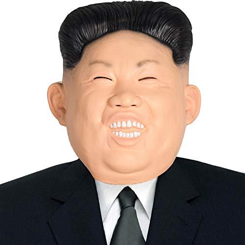 Finalshow Kim Jong un Maske Latex Tiermaske Kopf Menschlich Kostüm für Festival Halloween Weihnachten Party Dekoration