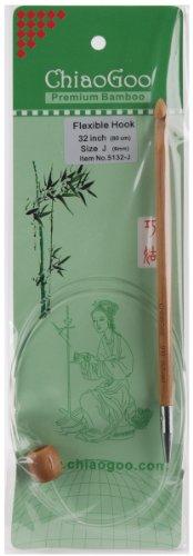 ChiaoGoo 5132-J 32-Inch Flexible Tunisian Hooks, J10/6mm