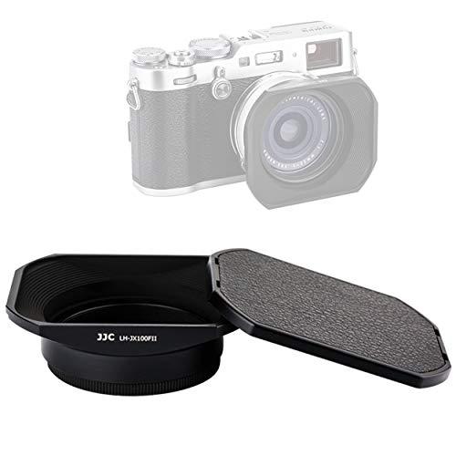 JJC LH-JX100FII BLACK Square Metal Lens Hood for Fujifilm X70 X100...