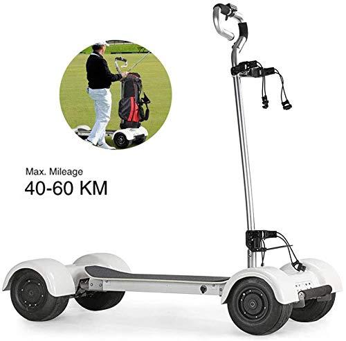 DHYBDZ Scooter/patineta de Golf eléctrico con carros de Golf eléctricos de 1000W 60V 18.2AH, Mini Carro de Golf eléctrico de 10.5inch 4 Ruedas Scooters inflables
