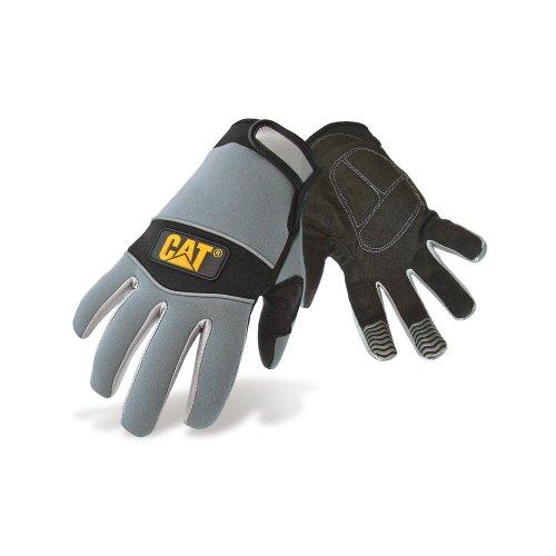 Caterpillar 12213 - Gants confortables en néoprène - Homme (L) (Noir/Gris)