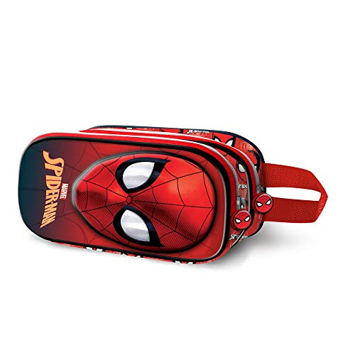 Karactermania Spiderman Spiderweb-3D Doppelfedermäppchen Astuccio, 22 cm, Rosso (Red)