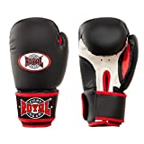 Guantes de boxeo de diseño único, guantes de entrenamiento y de pesca, guantes de entrenamiento de boxeo para hombre y mujer, color negro, 14 oz.