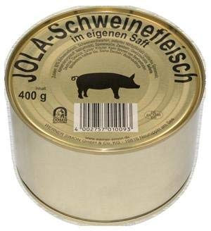 Schweinefleisch im eigenen Saft 95%(Fleischanteil) 400g Dose