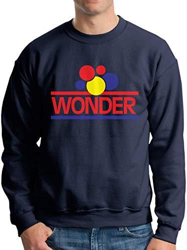 1280px-Wonder_Bread_Logo.SVG Mens Fashion Long Sleeve Sweatshirt Loose Soft Pullover Basic Tee Top Black