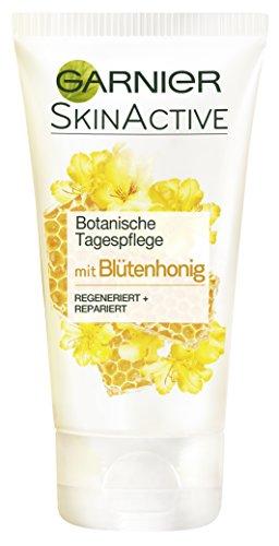 Garnier Botanische Tagespflege, mit Blütenhonig, pflegt intensiv, regeneriert und repariert, für trockene bis sehr trockene Haut, 2er-Pack (2 x 50 ml)