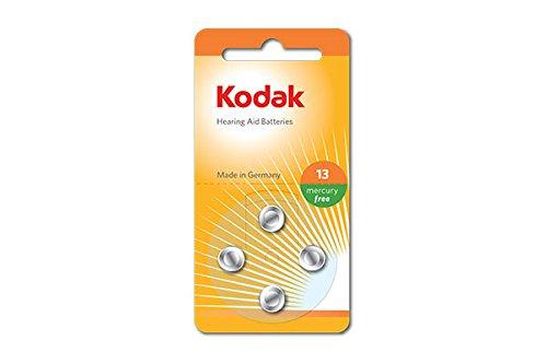 Kodak 30410411 Pack de 4 Piles pour Appareil auditif Taille P13 Argent