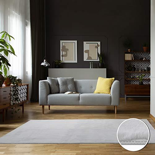 Carpet Studio Zacht vloerkleed voor woon- & slaapkamer 160x230cm, Grijs, Tapijt, Modern Design, Eenvoudig te reinigen, Handgemaakt
