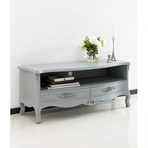 homesdirect365 Grey Antique French Style TV Stand