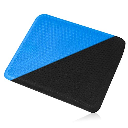 Gel Seat Cushion Chair Pad - Portable Thick Chair Cushion with Non-Slip Cover,Help in Relieving Back Pain & Butt Sciatica Pain,Breathable Design,for Wheelchair Office Chair