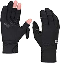 FRDM Convertible Fishing Gloves- Warm Cold Weather Insulated Windproof Water Repellent Touchscreen Hiking Photography Outdoor Activities, for Men & Women