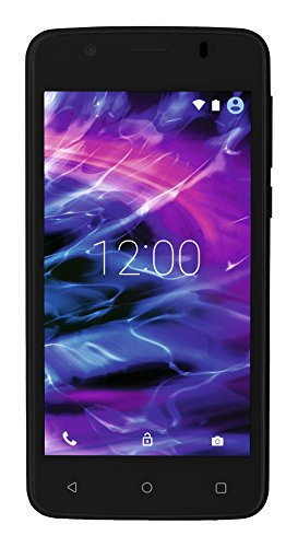Medion MD 99478 E4506 Smartphone (11,4 cm (4,5 Zoll) Touchscreen-Display, 5 Megapixel Kamera, Quad-Core-Prozessor, Dual-SIM, WiFi, 8GB interner Speicher, Android Lollipop 5.1) schwarz