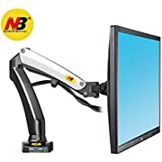 North Bayou Monitor Desk Mount Stand Full Motion Swivel Monitor Arm for 17''-27'' Computer Monitor