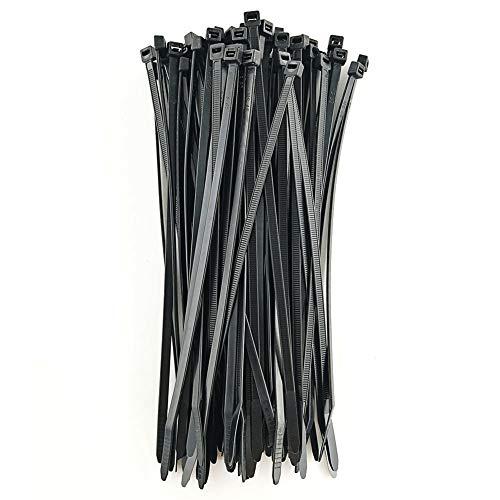 Autobloquant Zip Ties la Chaleur et R/ésistant aux UV Plastique C/âble Wire Ties Colliers Serre-C/âbles en Nylon 200mmx5mm 2 Sp/écifications 250mmx5mm TOOHUI Lot de 200 Attache de C/âble Noir