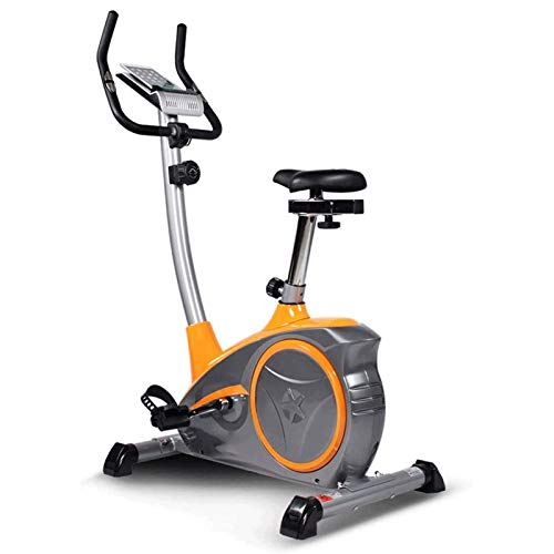 WJFXJQ Spin Bike Ejercicio Bicicleta Interior Ultra Silent Magnetic Belt Drive Cardio Workout Machine Vertical Bike Home Gym 220 lbs MAX Peso (Color : Gray)