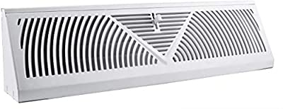 Accord ABBBWH15 Baseboard Register with Sunburst Design, 15-Inch(Duct Opening Measurement), White/White