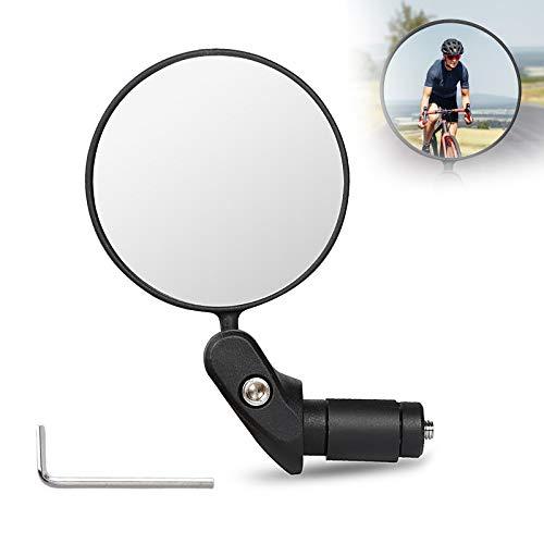 Specchietto Retrovisore per Bicicletta, 360 °Regolabile Specchio Rotante, HD Safe Specchio Convesso, per Manubrio della 17,4-22 mm, Robusto e Durevole, per Mountain Road, Bike, Bici da Corsa