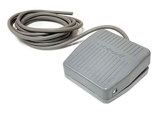 Pedal Schalter, TFS-201, 10A 250V AC Fußschalter Pedalschalter Elektrische Fußpedal On/Off Control mit 2m Kabel