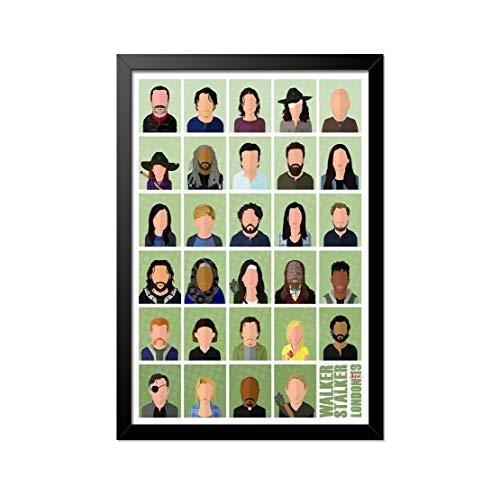Quadro Poster The Walking Dead Personagens 33x23cm