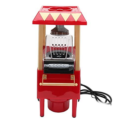 Mini MáQuina AutomáTica de Palomitas de MaíZ Roja, Calentamiento RáPido Y Uniforme MáQuina de Palomitas de MaíZ Vintage de 15.2 Pulgadas con Cuchara Medidora para Fiesta Familiar(rojo)