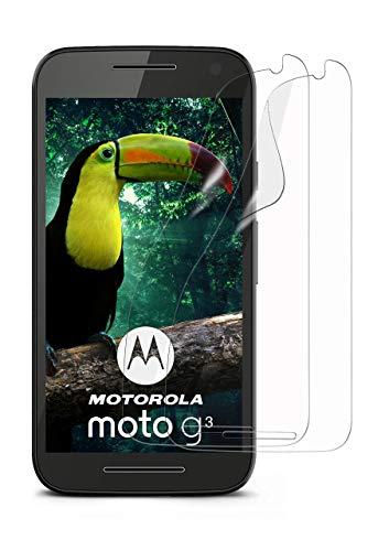 MoEx® Kristallklare HD Schutzfolie passend für Motorola Moto G3   Premium Bildschirmfolie - Kratzfest & Fast unsichtbar - Ultra Klar