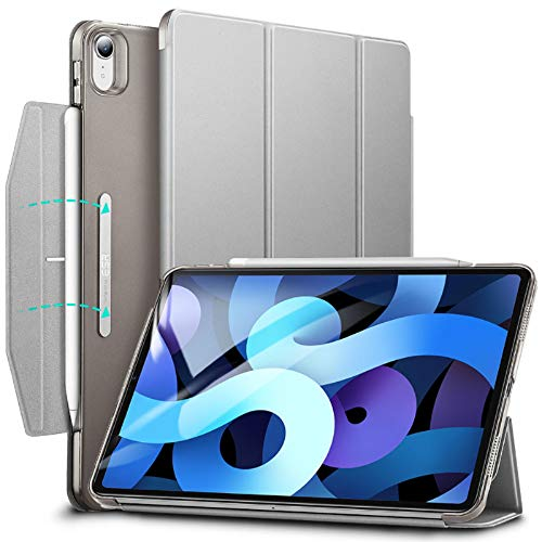 ESR Trifold Case for iPad Air 4 2020 10.9 Inch [Trifold Smart Case] [Auto Sleep/Wake Cover] [Stand Case with Clasp] Ascend Series - Grey