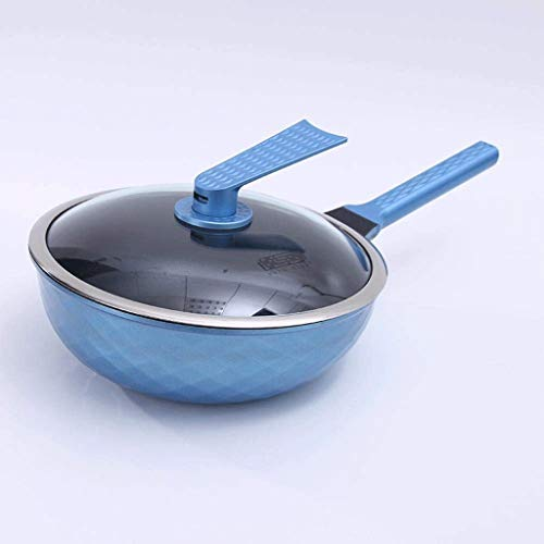CGADX Household rice stone non-stick pan pink wok thick pan smokeless pot induction cooker gas stove universal (Color : B)